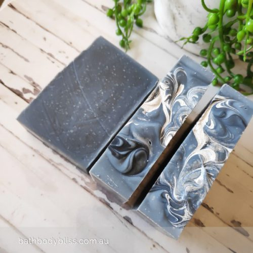 Handmade soap with activated charcoal & tea tree essential oil