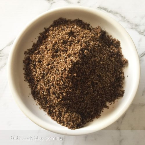 Organic Chai Body Scrub with freshly mixed chai spices