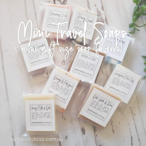 Mini Soaps are great for travel, guest or B&B.